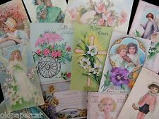 Lot of 12 VICTORIAN & VINTAGE Religious EASTER CARD Die Cuts | SHIPS FREE | E20