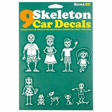 Gama-Go Skeleton Family - Auto / Car Vinyl Stickers / Decals - Set of 9