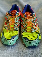 MENS ASICS GEL -NOOSA TYI 6.. SIZE 7.5 IN GUC GLOW IN THE DARK MULTI COLOR SHOES