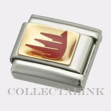 Original 18k Nomination Enamel Red Leukemia Sign Charm