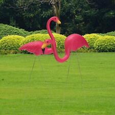 2X Rose Oiseau Flamant Flamingo Figurine Pelouse Jardin Extérieur Ornament Décor