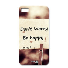 CUSTODIA COVER CASE DON'T WORRY BE HAPPY FELICITA' PER HUAWEI ASCEND G6 3G