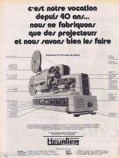 PUBLICITE ADVERTISING 095 1971 Heurtier projecteurs de cinéma