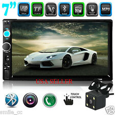 7'' HD Bluetooth Touch Screen Car Stereo Radio 2 DIN FM/MP5/MP3/USB/AUX Camera