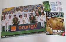 2001-02 Test - Australia v South Africa - Program, Tickets, Fixture and Poster