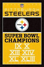 PITTSBURGH STEELERS - SUPER BOWL CHAMPIONS POSTER - 22 x 34 NFL FOOTBALL 6767