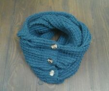 Accessorize teal dark turquoise button snood scarf unwanted christmas present