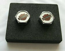 Genuine Harley-Davidson Chrome Plated Value Stem Caps Color Bar & Shield Logo