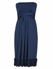 M&S COLLECTION Laser Cut Multiway Bridesmaid Skater Dress Size UK18/EUR46