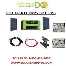 Solar Panel KIT Panneau Solaire 200W 200 W Watt 2 * 100 W 30A MPPT Poly brackets