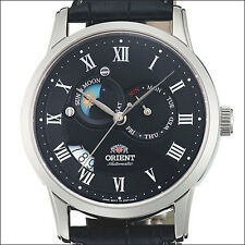 Orient Black Dial Automatic Sun and Moon Watch, Sapphire Crystal #ET0T002B