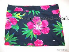 HOLLISTER NWT Floral Mini Skirt Juniors Size 5 Navy Blue Hot Pink Tropical NEW