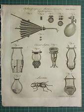1797 Original Antigua Fuelle de impresión inflar los pulmones respiración ~ Antigua liras