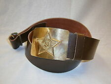 Soviet Army Officers Belt Star Buckle Russian Military Gear USSR Armed Forces