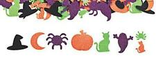 25 Glitter Halloween  Foam Stickers Self-adhesive Shapes Spider Bat Pumpkin