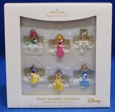 Disney Hallmark Ornament Set Cinderella Snow White Aurora TinkerBell Ariel Belle