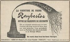Y7293 La Garniture de freins RAYBESTOS - Pubblicità d'epoca - 1928 Old advert