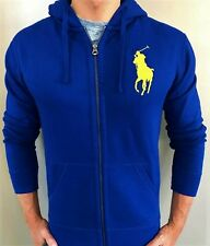 New NWT Mens Ralph Lauren Polo Big Pony Fleece Hoody Hooded Jacket Small