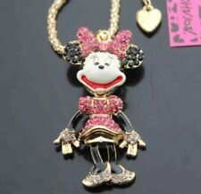 Cute NWT Betsey Johnson Necklace Pink Minnie Mouse