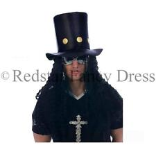 80's Slash Sombrero Y Peluca De Pelo De Metal Pesado Fancy Dress Guns N Roses Sombrero