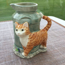 Cute Ginger Cat Milk Jug Border Fine Arts like Street Cat Bob James Herriot 1998