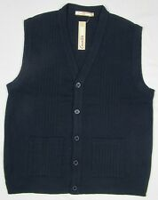 Adults Mens Sleeveless Button Through Tank Top Pull Over Slipover Cardigan 62