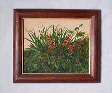 Oil painting of Flower bed. Signed JCH (Jerzy Chmelik).