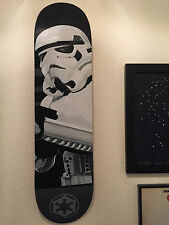 Original hand painted acrylic on wood STORMTROOPER STAR WARS Skateboard deck