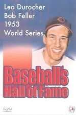 BASEBALLS HALL OF FAME Inc Leo Durocher Bob Feller Gil Hodges 2 DVD Set (NEW)