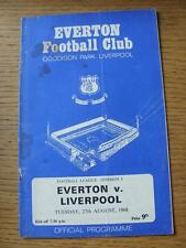 27/08/1968 Everton v Liverpool  (Token Removed, Stained Throughout, Creased)