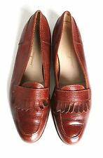 UK 6.5 / 7 Salvatore Ferragamo brown leather loafers-(Labelled US 10) - 39.5/ 40