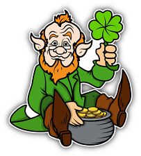 "Leprechaun Money Car Bumper Sticker Decal 5"" x 5"""