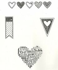Stampin Up!~~LANGUAGE OF LOVE  CM   Romance Love Valentine HEARTS  Retired