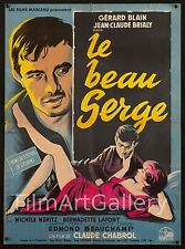 "LE BEAU SERGE 1959 French 23""x32"" poster Grinsson Claude Chabrol filmartgallery"