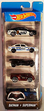 HOTWHEELS BATMAN VS SUPERMAN 5 PACK DODGE CHARGER BATMOBILE ULTRA RAGE RIVITED