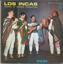 LOS INCAS Chants et danses d'Argentine FRENCH EP PHILIPS LANGUETTE