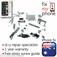 iPhone 5s Metal bracket kit set 25 pc Home LCD small home ear piece camera all