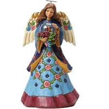 Jim Shore Heartwood Creek Beauty Blooms Angel With Flowers In Glass Dome 4047070