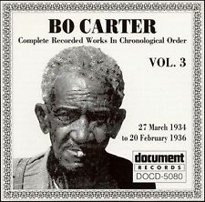 Bo Carter, Vol. 3 (1934-1936) by Bo Carter (CD, Nov-...