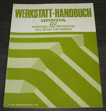 Werkstatthandbuch Honda Accord D2 Schaltgetriebe Wartung und Reparatur 1987