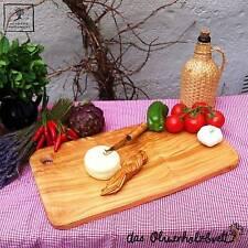 Schneidebrett Olivenholz Servierbrett Tranchierbrett Brotzeit Holz ca 50cm Brett