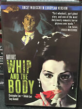 *one owner* Whip And The Body 1963 DVD Christopher Lee Mario Bava Uncut European