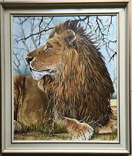 Kenneth Anderson~Collectable larger original painting~Lion~77