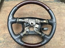 01-02 Mitsubishi Montero FULLSIZE  Limited Steering Wheel MR510987 Wood Leather