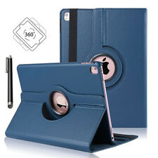 "360° Rotating Leather Stand Case Smart Cover for Apple iPad Pro 9.7"" (Dark Blue)"