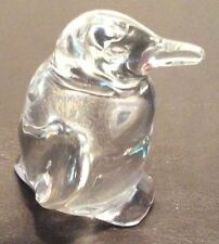 VILLEROY & BOCH PENGUIN ART GLASS  PAPER WEIGHT FIGURINE GERMANY