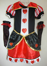 Disney Alice in Wonderland Costume Queen of Hearts Girl Small Medium FREE GLOVES