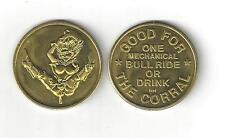 NUDE SEXY LADY WOMAN COWGIRL BULL RIDER GOOD FOR TRADE TOKEN COIN RISQUE EROTIC