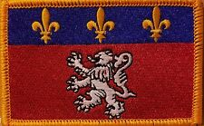 LYON FRANCE Flag Embroidered Iron-On Patch Military Emblem  Gold Border