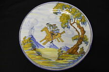 Hand Painted FÁBRICA DE CERAMICA Charger Plate by A. SERRANO Don Quixote